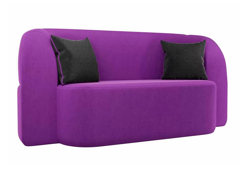 Детский прямой диван Томас микровельвет фиолетовый