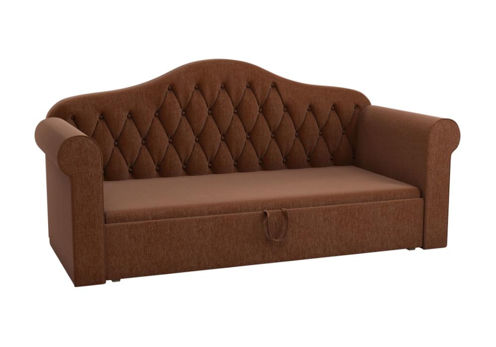 Детский диван Делюкс рогожка коричневая