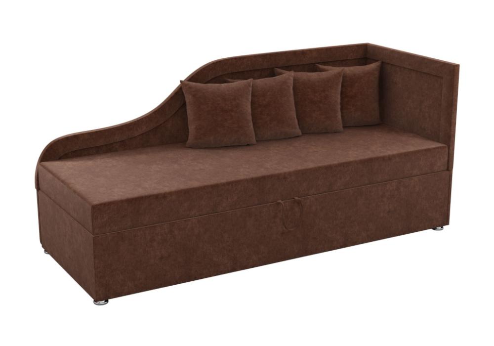 Детский диван Дюна микровельвет коричневый