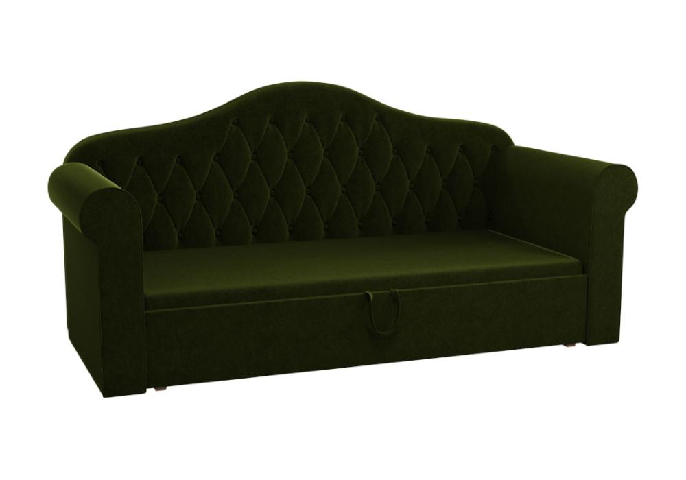 Детский диван Делюкс микровельвет зеленый