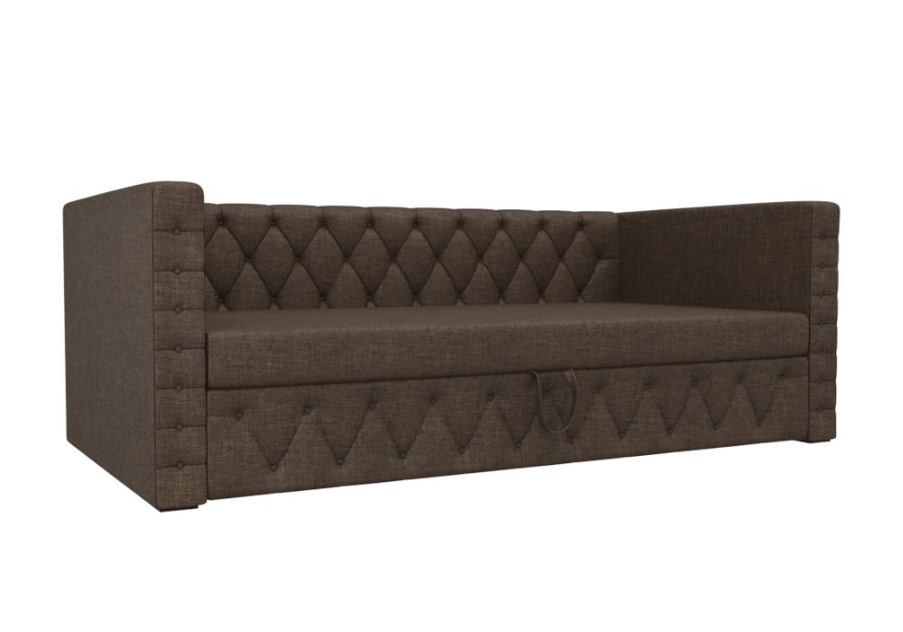 Детский диван Таранто рогожка коричневый