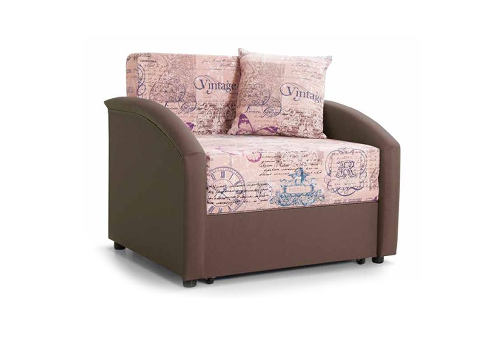 Детский диван выкатной Даня розово-коричневый