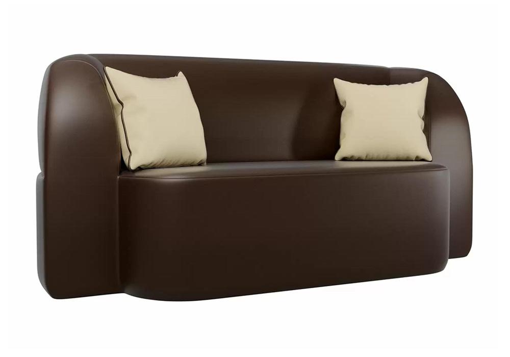 Детский прямой диван Томас экокожа коричневый