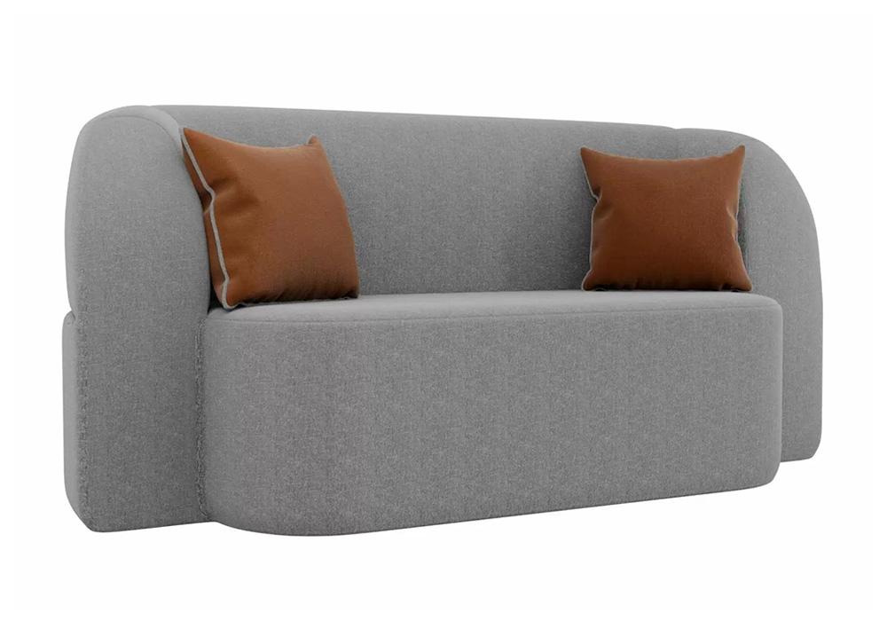 Детский прямой диван Томас рогожка серый / коричневые