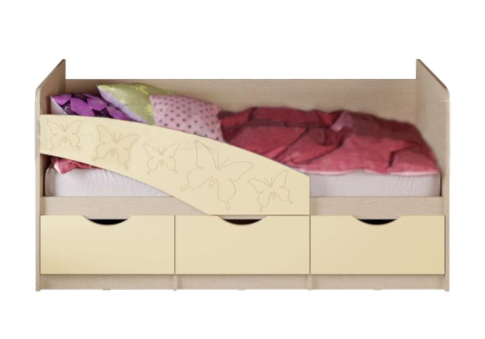 Кровать Бабочки бежевая