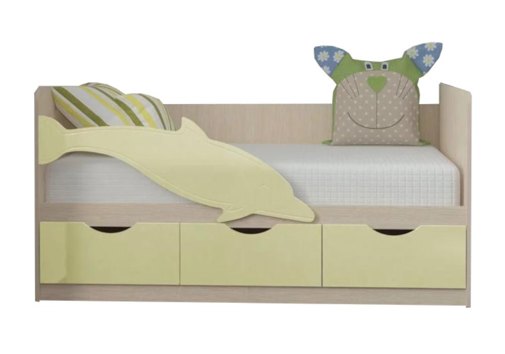 Детская кровать Дельфин-3 ваниль матовая / белфорд