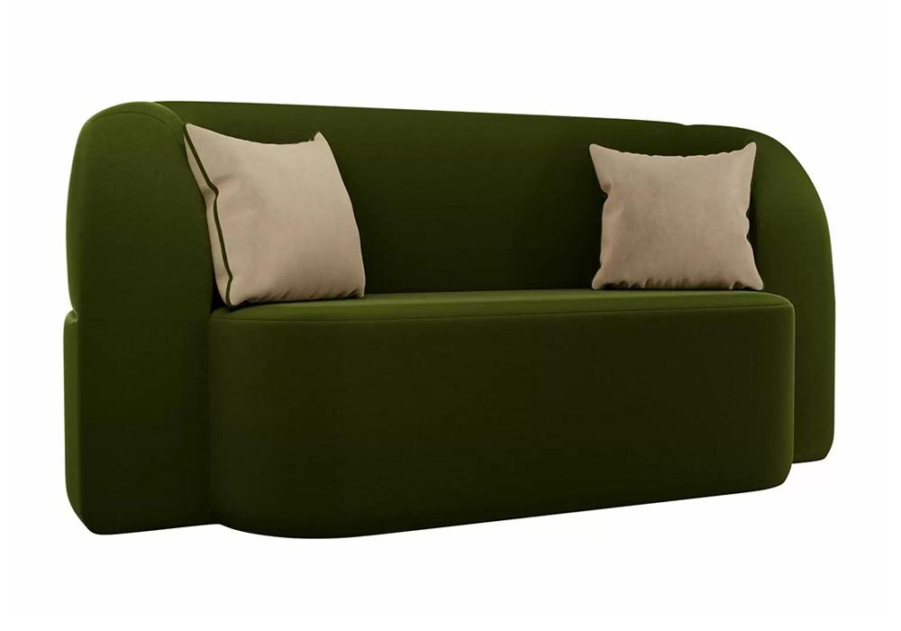 Детский прямой диван Томас микровельвет зеленый