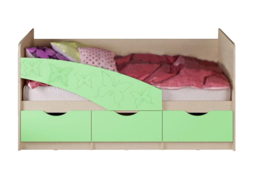 Кровать Бабочки салатовая