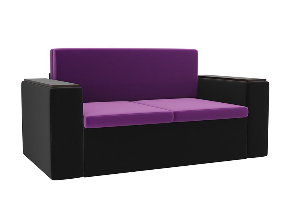 Детский диван Арси микровельвет фиолетовый / черный