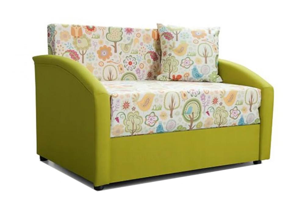 Детский диван выкатной Даня зеленый