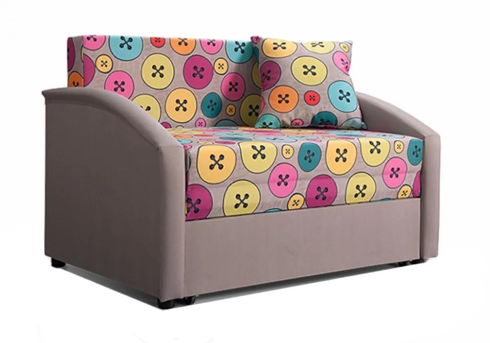 Детский диван выкатной Даня пудровый