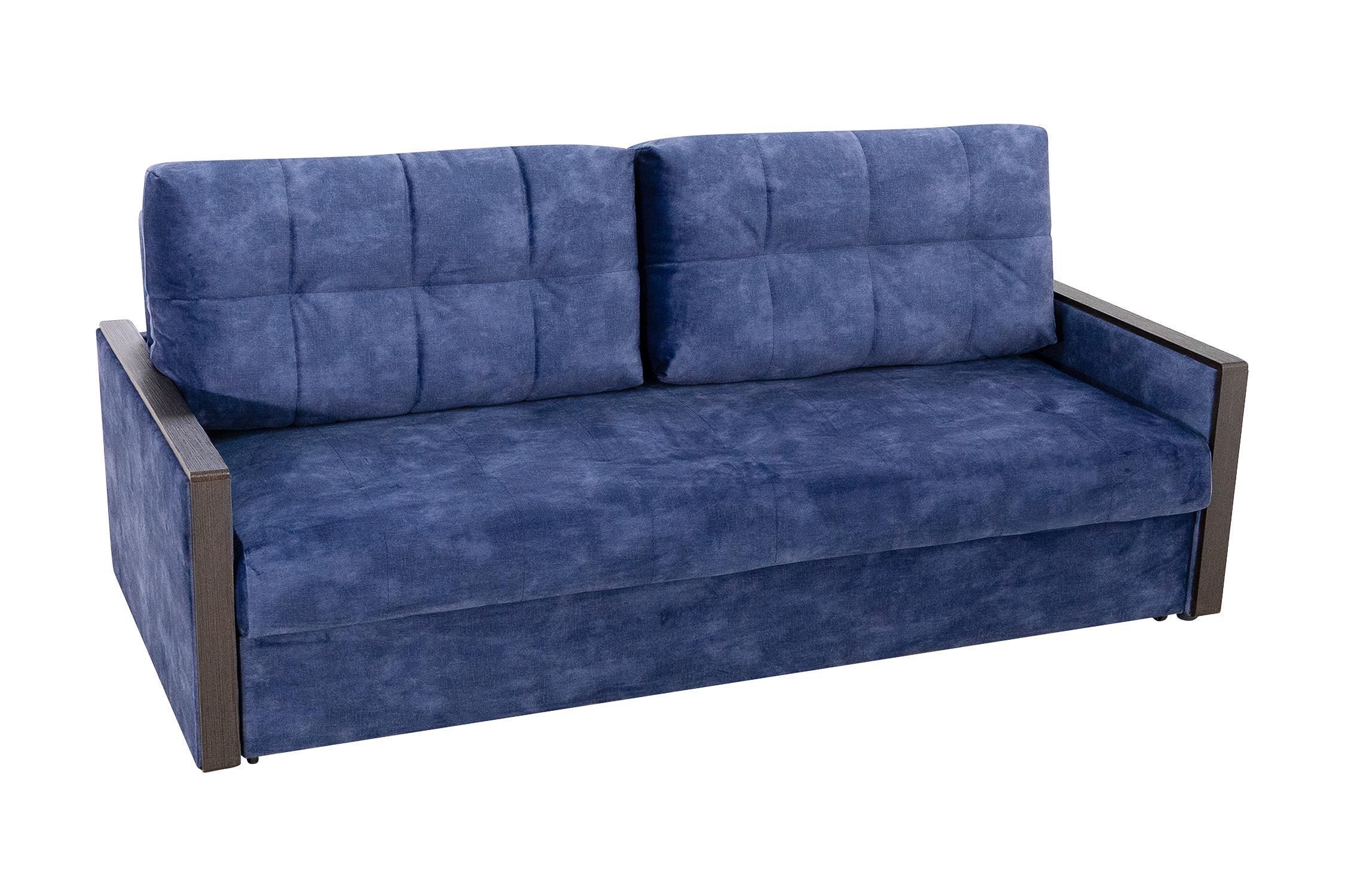 Диван еврокнижка Норд с декором синий