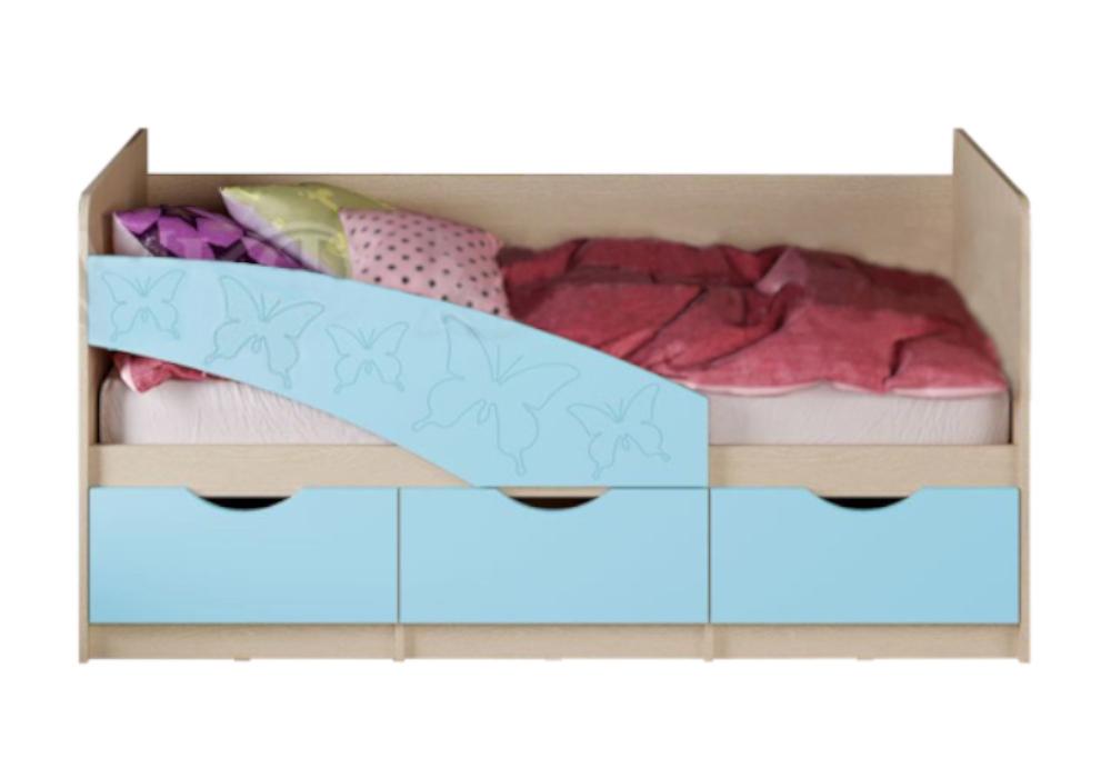 Кровать Бабочки голубая