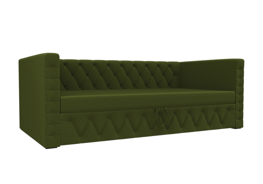 Детский диван Таранто микровельвет зеленый