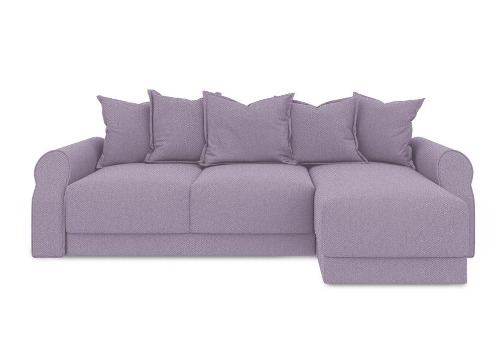 Диван угловой тик-так Люксор Т1 фиолетовый