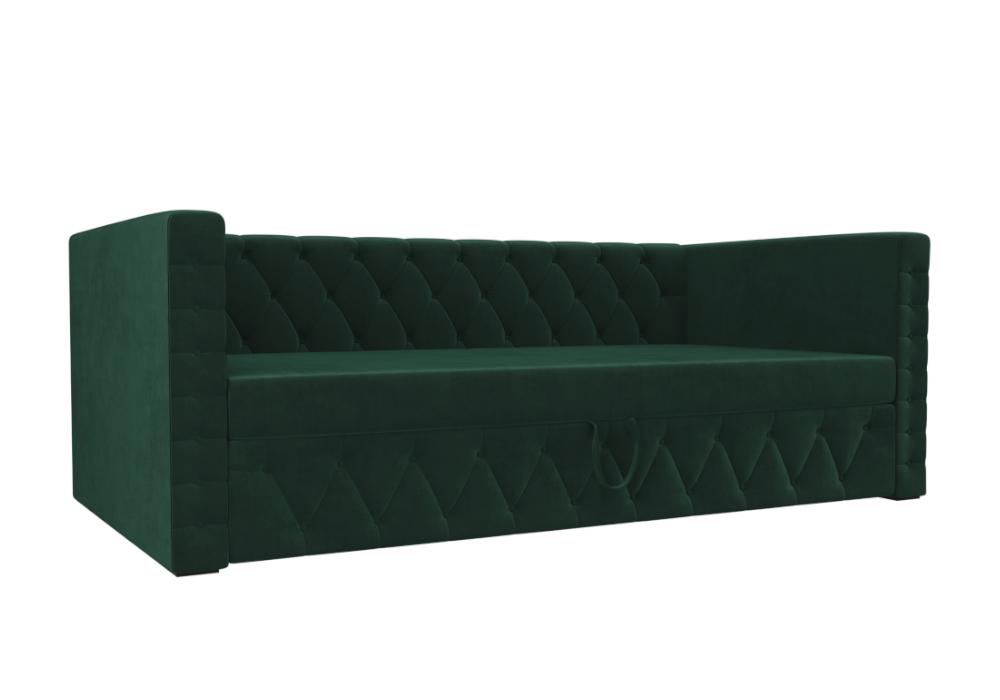 Детский диван Таранто велюр зеленый