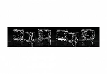 Стеновая панель с фотопечатью кубики льда большие