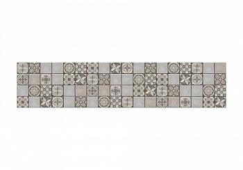 Комплект стеновых панелей с фотопечатью плитка серая