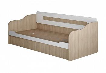 Кровать-диван Палермо-3 Юниор ясень шимо светлый / белый глянец