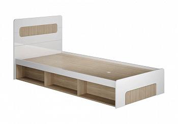 Кровать Палермо-3 Юниор ясень шимо светлый / белый глянец