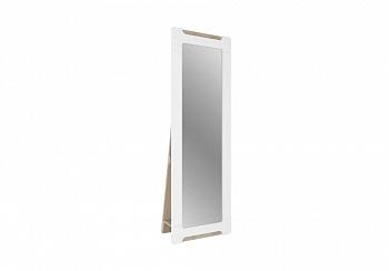 Зеркало ростовое с опорой Палермо-3 ясень шимо светлый / белый глянец