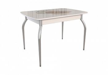 Обеденный стол Танго белый / геометрия