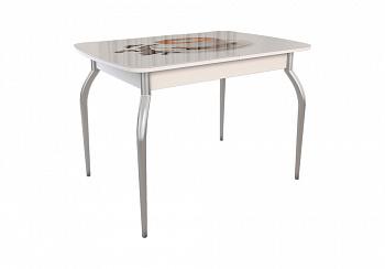 Обеденный стол Танго белый / кофе