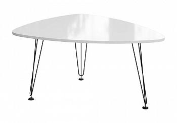 Журнальный стол №13 белый глянец