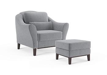 Комплект мягкой мебели Монреаль №3 серый