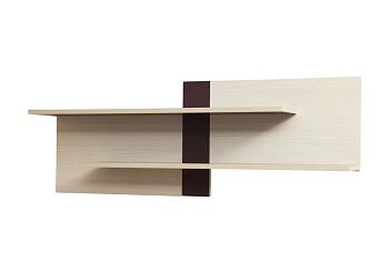 Полка для книг Некст вудлайн кремовый / баклажан