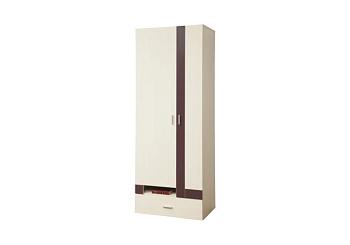 Шкаф 2-дверный Некст вудлайн кремовый / баклажан