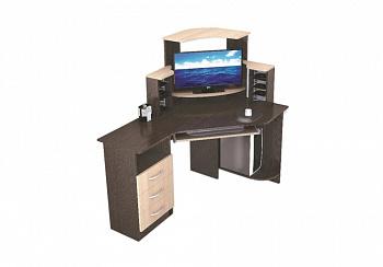 Стол компьютерный Грета-7 венге / дуб молочный