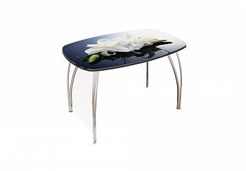 Стол обеденный Агат (Фотопечать) лилии