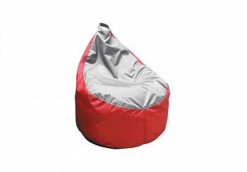 Кресло-мешок Груша-3 мини оксфорд серо-красный