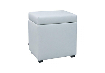 Банкетка квадратная белая