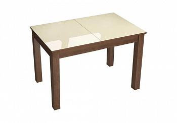 Стол обеденный раскладной Бруно коричнево-бежевый