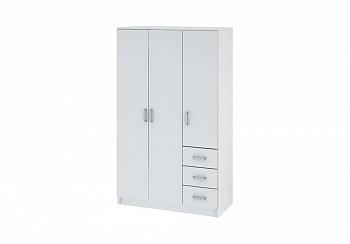 Шкаф 3-х дверный Лофт белый
