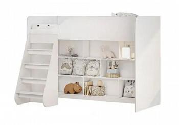 Кровать-чердак белая