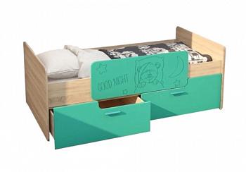 Кровать детская Умка бирюза металлик