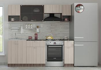 Кухня Зара 2.1 м ясень светлый / ясень темный