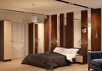 Модульная спальня Ронда венге цаво / беленый дуб