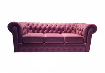 Диван Честер 3-х местный розовый