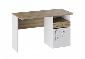 Письменный стол Оксфорд ривьера / белый с рисунком