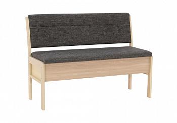 Кухонный диван Этюд облегченный серый / выбеленная береза