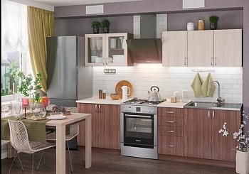 Кухня Татьяна 2.0 м ясень светлый / ясень темный