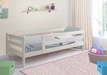 Кровать детская Норка с бортиком выбеленная береза
