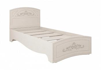 Кровать Каролина 0.9 м вудлайн кремовый / сандал белый