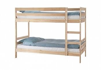 Двухъярусная кровать Пирус натуральный
