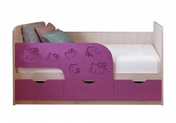 Детская кровать Kitty сирень темная металлик / белфорд