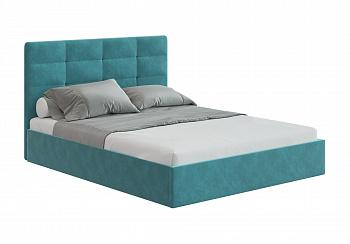 Кровать Соната 1.6 м бирюзовый велюр